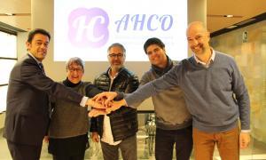 Comú d'Ordino/ El cònsol Josep Àngel Mortés  i el conseller Xavier Herver  amb els tres membres de la nova associació.