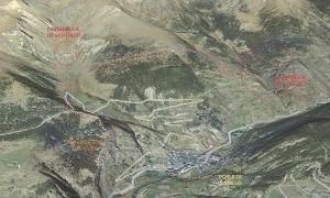 Imatge de la situació dels ponts tibetans que pretén construir el Comú com a atractiu turístic.