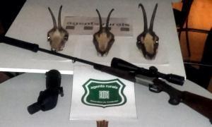 Enxampen un furtiu d'isards a la reserva de caça de l'Alt Pallars