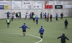 Imatge de la picabaralla al final del partit entre Inter i UE Engordany. Foto: Facundo Santana