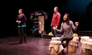 Assaig de 'L'elisir d'amore', ahir al Claror; l'estrena, el 27 de gener.