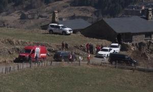 La zona on han estat trobats els joves i on s'ha muntat la base de l'operatiu de cerca.