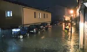 Una de les zones inundades arran de l'aiguat de diumenge.