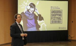 Un moment de la presentació dels resultats de la sisena edició de l'Andorra Shopping Festival al Centre de Congressos de la capital.
