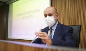 El ministre de Salut, Joan Martínez Benazet, ha comparegut novament aquesta tarda davant la comissió legislativa de Sanitat.
