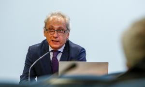 El ministre de Turisme en funcions, Francesc Camp, en la presentació de la campanya per al Pas de la Casa, ahir.