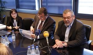 Josep Delgado i Jean Michel Rascagneres van presentar ahir el balanç de l'evolució de l'FRJ durant el 2017.