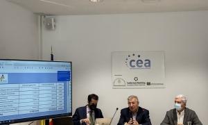 Un moment de la presentació de l'estudi de la CEA i l'ATVA sobre l'impacte de la Covid en el sector del transport públic de viatgers.