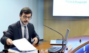 El ministre de Finances, Jordi Cinca, va comparèixer ahir per explicar amb més detall els comptes per a l'exercici 2019.