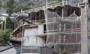 Un edifici en construcció a Andorra la Vella.