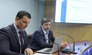 Gallardo va comparèixer ahir per parlar de l'enquesta de condicions de vida.