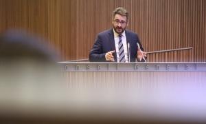 El ministre de Finances, Eric Jover, en una intervenció al Consell General.