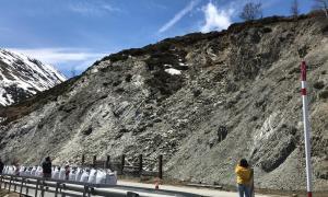 L'esllavissada que va tenir lloc a la carretera RN-22, a la zona del pont de la Mina.