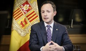 El cap de Govern, Xavier Espot, en un moment del discurs dirigit a la ciutadania.