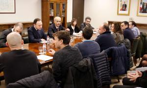 Els sindicats es van reunir ahir amb el Govern.