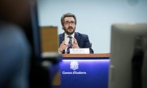 Eric Jover va informar ahir de l'aprovació per part del consell de ministres de la quota proposada per l'FMI.