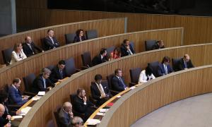 Els consellers generals en el transcurs d'una sessió parlamentària.