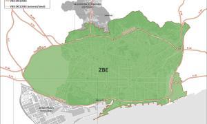 Mapa de la zona de baixes emissions de Barcelona.