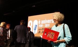 Carmen Alonso, la locutora de 'El concierto de los radiooyentes' i veu de la sintonia 'Aquí Radio Andorra, emisora del Principado de Andorra', va assistir a la taula rodona d'ahir al matí a la Valireta.
