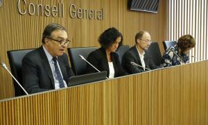 El raonador del ciutadà, Marc Vila, va comparèixer ahir davant la comissió legislativa d'Interior.