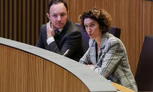 La ministra d'Afers Exteriors, Maria Ubach, en una de les intervencions en la sessió de control a l'executiu d'ahir al Consell General.