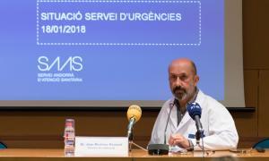 El director assistencial del SAAS, Joan Martínez Benazet, va informar ahir de la situació al servei d'Urgències.