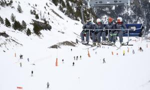 Esquiadors a les pistes de les Valls del Nord.