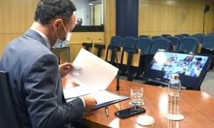 El cap de Govern, Xavier Espot, va comparèixer ahir per informar de la publicació del decret de reestructuració del Govern.