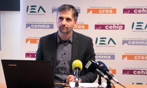El director del CRES, Joan Micó, durant la roda de premsa d'ahir.