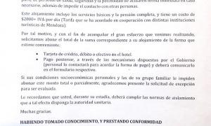 Document que han de firmar els temporers quan arriben a la ciutat de Mendoza.