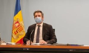 El ministre portaveu, Eric Jover, en la roda de premsa posterior al consell de ministres.