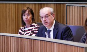 El titular de Salut, Carles Álvarez, en una sessió del Consell General.