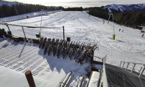 Les pistes de l'estació de Pal buides d'esquiadors.
