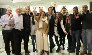 Els membres de la candidatura d'En Comú per Andorra la Vella, que va resultar guanyadora a Andorra la Vella.