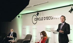 Espot en la seva intervenció al Cercle d'Economia a Barcelona, ahir.