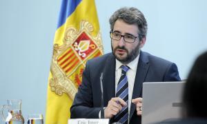 El ministre de Finances, Eric Jover, va comparèixer ahir per desgranar els diferents capítols del projecte de pressupost per al 2020.