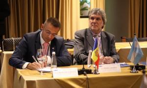 El secretari d'Estat de Justícia i Interior, Joan León, a l'assemblea plenària.