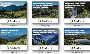 Una mostra dels bàners de la campanya en diferents idiomes.