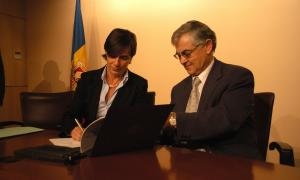 Joaquima Sol, directora de la CASS, que també declararà en aquest afer, i Ramon Cereza, exdirector del SAAS, que és un encausat.