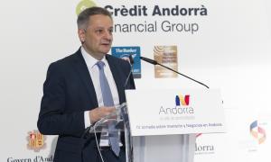 El ministre d'Economia, Competitivitat i Innovació, Gilbert Saboya, va inaugurar ahir la Jornada dobre inversió i negocis a Andorra.