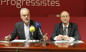 Roig i Naudi en una compareixença anterior a la seu del partit.