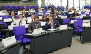 Marc Ballestà i Carles Naudi en la reunió de l'OSCE.