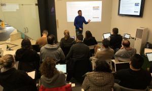 Un moment de la formació a l'Espai d'Innovació d'Andorra.