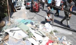 Així van quedar els carrers de Beirut després de les explosions.