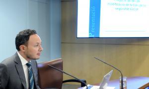 El ministre Espot va presentar ahir el nou règim de cotització per a autònoms.