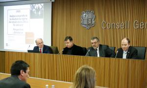Rascagneres va comparèixer ahir davant les comissions legislatives de Finances i Pressupost i de Sanitat i Medi Ambient.