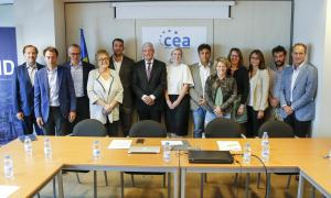 La junta de la Confederació Empresarial Andorrana encapçalada per Gerard Cadena.