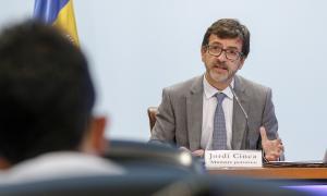 El ministre de Finances, Jordi Cinca, va presentar les lleis ahir.