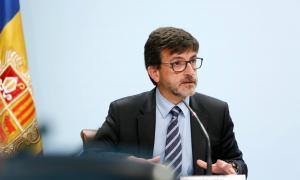 El ministre portaveu, Jordi Cinca, en la compareixença d'ahir a l'edifici administratiu.