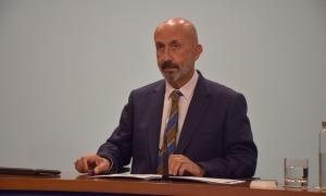 El titular de Salut, Joan Martínez Benazet, en la compareixença posterior al consell de ministres d'aquesta tarda.